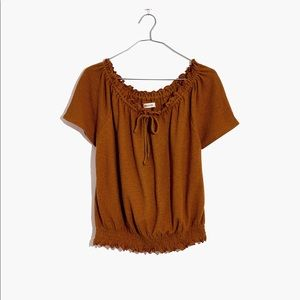 NWT Madewell Size M Texture & Thread Top